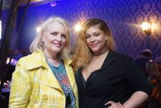 Stylist Catherine Schuller and Nicole Flores